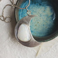 Large 'Mother Moon' Silver Necklace, Handmade, Sterling Silver