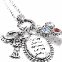 Personalized Mothers Necklace with Children's Names