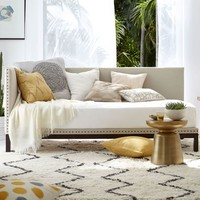 Nailhead Trim Daybed - Flax (Brushed Heathered Cotton)