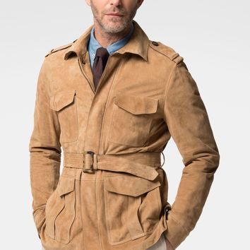 Hackett Mayfair Saharian Suede Jacket