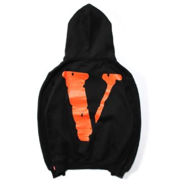 Crown embroidery behind the big V-letter printing sweater plus cashmere hoodies men and women sweater men's clothing