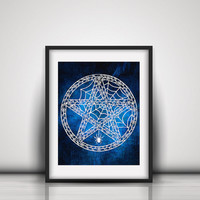 Pentagram Paper Cut Art - Occult Art - Magic Circle Decor - Esoteric Art - Wiccan Pentagram - Spiritual Art - Gothic Art - Pagan Art