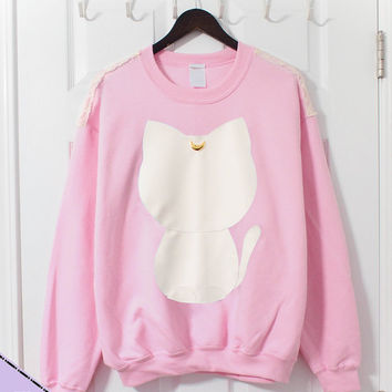 Artemis Sailor Moon Inspired Crewneck Sweater