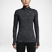 The Nike Element Stripe Half-Zip Women's Running Top.