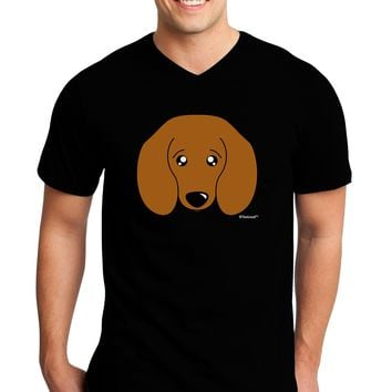 Cute Doxie Dachshund Dog Adult Dark V-Neck T-Shirt by TooLoud