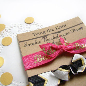FOE, Bachelorette Party Favors, Bachelorette Gift, Party Favor Set, Elastic Hair Ties Set, Bridal Party, Birdesmaid Gift, For the Bride