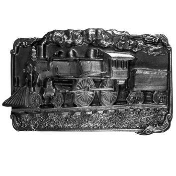 Sports Accessories - Train Antiqued Belt Buckle