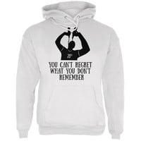 Can't Regret 21st Birthday White Adult Hoodie