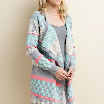 Mint S'mores Cozy Cardigan