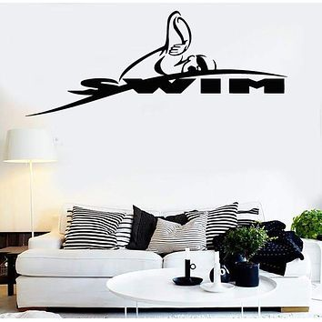 Vinyl Decal Wall Stickers Swim Swimming Swimmer Water Sport (z1656)