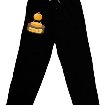 Golden Grill Trophy Adult Lounge Pants - Black by TooLoud