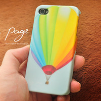 Apple iphone case for iphone iphone 4 iphone 4s iphone 3Gs : colorful rainbow hot balloon