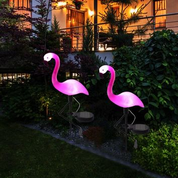 Solar Stake Light Flamingo Light LED Lantern Decorative Outdoor Lawn Yard Lamp Solar Powered Pathway Lights for Garden Patio
