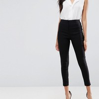 ASOS High Waist Pants In Skinny Fit at asos.com