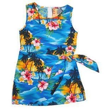 skyburst hawaiian girl sarong dress