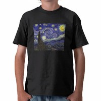Van Gogh Starry Night, Vintage Post Impressionism Tee Shirt from Zazzle.com