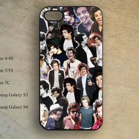 harry styles collage Phone case,iphone 5s case,iPhone 5c Case,iphone 5 case,iphone 4 case,samsung galaxy S4 S3,hipster iPhone case X-115
