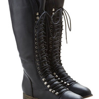 ModCloth Steampunk Follow the Cedar Boot in Black