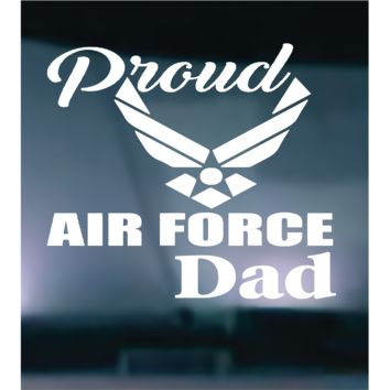 Proud Air Force Dad Vinyl Graphic Decal