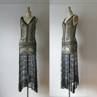 vintage 1920s dress / 20s beaded flapper dress by Dronning on Etsy