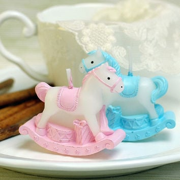 Hot Sale Smokeless Horse Birthday Party Decorative Candles Baby Shower Cake Candles Wedding Favors And Gifts