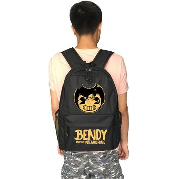 Bendy and The Ink machine school bag Game backpack student school bag Daily backpack men women Rucksack