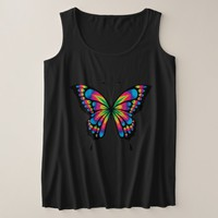 Dazzling Butterfly art Plus Size Tank Top