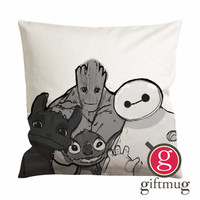 Baymax Groot Stitch Toothless Cushion Case / Pillow Case