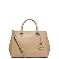 Sutton Medium Saffiano Leather Satchel | Michael Kors