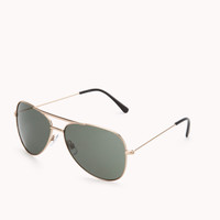 F4374 Iconic Aviator Sunglasses