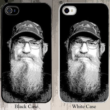 Si Robertson Posterized Portrait of Duck Dynasty Fame and Duck Commander Fame iPhone Case - Fits iPhone 5S or 4S buyer choice