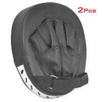 Super sell 2x focus pads hook jab mitts boxing gloves sparring punch bag training pair MMA