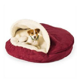 Luxury Cozy Cave Pet Dog Bed |Red