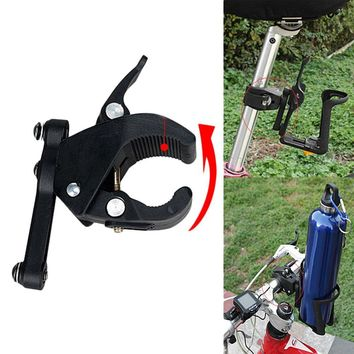 MTB Bicycle Bike Bottle Holder Clamp Adaptor Clip Water Bottle Cage Bracket Mount On Seatpost Handlebar Front Fork Frame Tube
