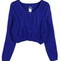 Scoop Neckline Cable- Knit Sweater