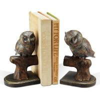Roosting Owl Book Ends (Set of 2)