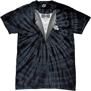 Buy Cool Shirts Tuxedo T-shirt White Flower Spider Tie Dye Tee