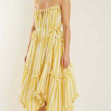 Lumino Floating striped linen dress | Zimmermann | MATCHESFASHION.COM US