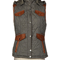 On the Bunny Slope Vest - Olive