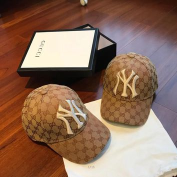 Gucci Baseball Hat With Ny Yankees? Patch #1101