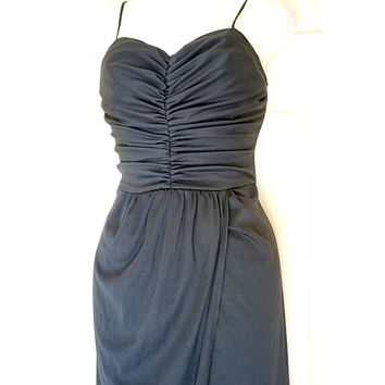 Vintage Fredericks of Hollywood Black Sarong dress M
