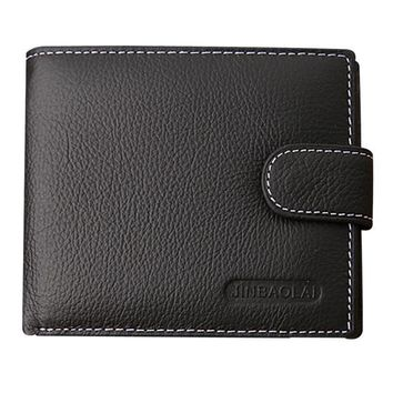 Men's Wallets purse pocket RFID Blocking  Leather 2 ID Window