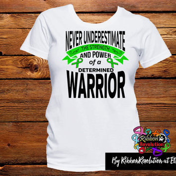 Never Underestimate The Strength and Power of a Determined Warrior Shirts For Cerebral Palsy, Kidney Disease, Mito, Neurofibromatosis etc
