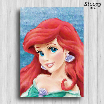 Little Mermaid Ariel print disney princess art