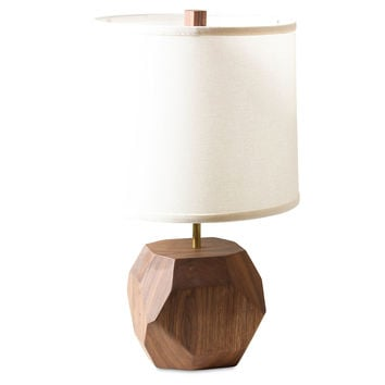 Gem Table Lamp, Walnut, Table Lamps
