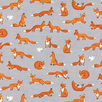 Forest Friends by Ingrid Slyder for Moda Fabrics, Fox Fabric, $9 per yard