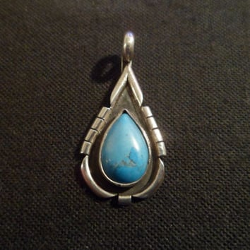 RESERVED FOR KENDRA. Authentic Navajo,Native American,Southwestern,sterling silver turquoise pendant/necklace
