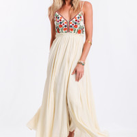 The Isabella Embroidered Maxi Dress By Raga