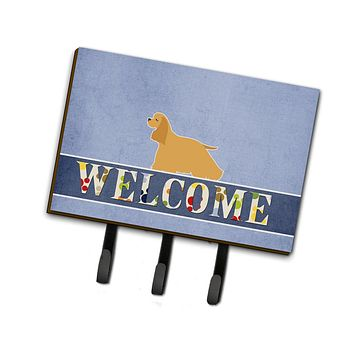 Cocker Spaniel Welcome Leash or Key Holder BB5490TH68