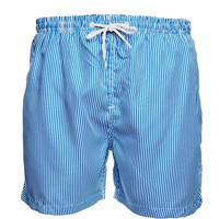 The Idle Man Stripe Swim Shorts Blue